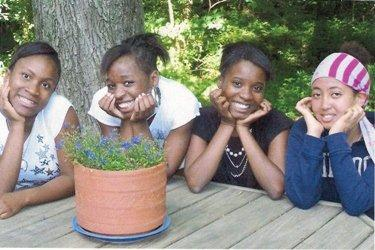 Rahel with her sisters