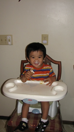 picture of Hudson in high chair